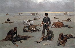 Frederic Remington | What an Unbranded Cow Has Cost, 1895 | Giclée Canvas Print