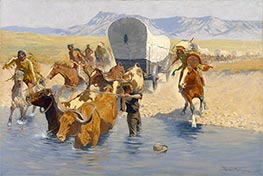 Frederic Remington | The Emigrants | Giclée Canvas Print