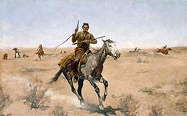 Frederic Remington | The Flight (A Sage-Brush Pioneer) | Giclée Canvas Print