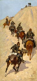 Frederic Remington | Scouts Climbing a Mountain, 1891 | Giclée Canvas Print