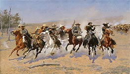 Frederic Remington | A Dash for the Timber, 1889 | Giclée Canvas Print