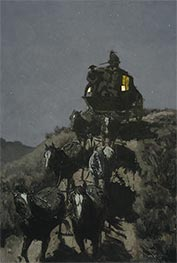 Frederic Remington | The Old Stage-Coach of the Plains | Giclée Canvas Print