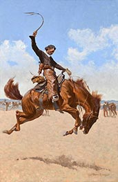 Frederic Remington | A Buck-Jumper | Giclée Canvas Print