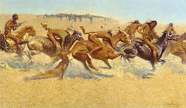 Frederic Remington | Indian Warfare | Giclée Canvas Print