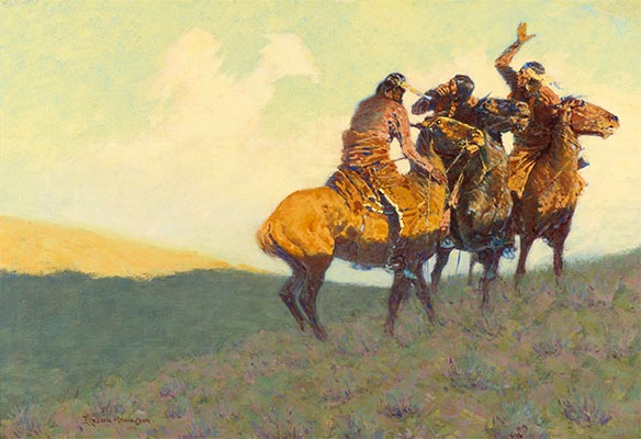 With the Eye of the Mind, 1908 | Frederic Remington | Painting Reproduction