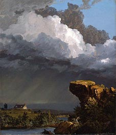 Frederic Edwin Church | A Passing Storm | Giclée Canvas Print