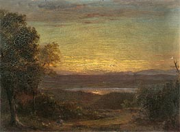 Frederic Edwin Church | Sunset from Olana, 1891 | Giclée Canvas Print