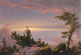 Frederic Edwin Church | Above the Clouds at Sunrise, 1849 | Giclée Canvas Print