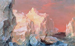 Frederic Edwin Church | Icebergs and Wreck in Sunset, c.1860 | Giclée Canvas Print