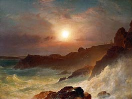 Frederic Edwin Church | Coast Scene, Mount Desert, 1863 | Giclée Canvas Print
