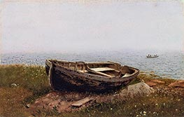 Abandoned Skiff, 1850 by Frederic Edwin Church | Giclée Canvas Print