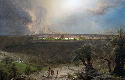 Jerusalem from the Mount of Olives, 1870   Frederic Edwin Church   Painting Reproduction