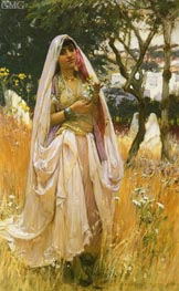 Frederick Arthur Bridgman | Moorish Girl, Algiers Countryside, 1880 | Giclée Canvas Print