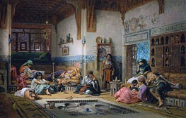 Frederick Arthur Bridgman | The Nubian Story Teller in the Harem, 1875 | Giclée Canvas Print