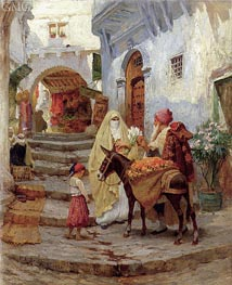 Frederick Arthur Bridgman | The Orange Seller, 1920 | Giclée Canvas Print