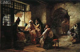 Frederick Arthur Bridgman | An Interesting Game, 1881 | Giclée Canvas Print