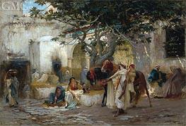 Frederick Arthur Bridgman | Courtyard in Algeria | Giclée Canvas Print