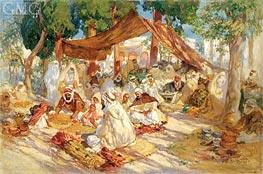 Frederick Arthur Bridgman | Market Scene, 1923 | Giclée Canvas Print