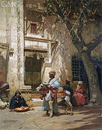 Frederick Arthur Bridgman | Outside the Mosque, undated | Giclée Canvas Print