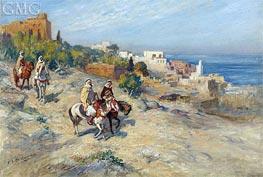 Frederick Arthur Bridgman | Horsemen in Algiers | Giclée Canvas Print