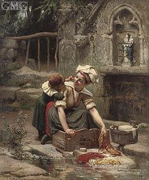 Frederick Arthur Bridgman | Mother's Little Helper , 1874 | Giclée Canvas Print