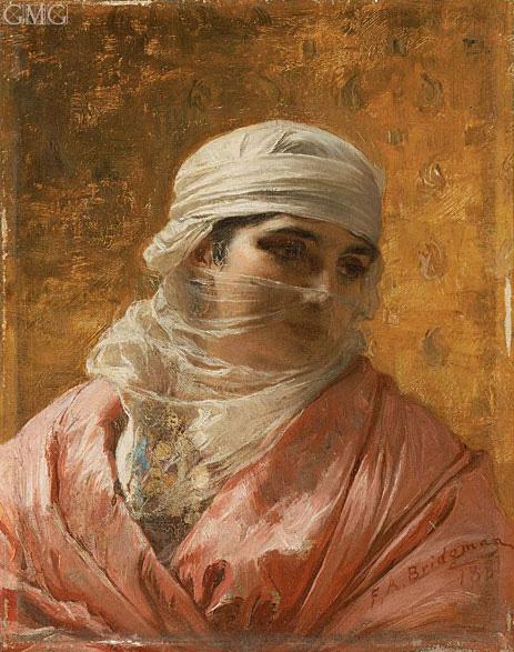 A Circassian, 1881 | Frederick Arthur Bridgman | Painting Reproduction