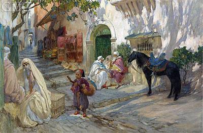 A Street Scene in Algeria, undated | Frederick Arthur Bridgman | Painting Reproduction