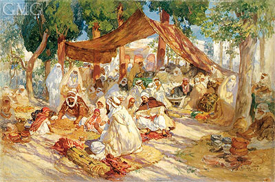 Market Scene, 1923 | Frederick Arthur Bridgman | Painting Reproduction