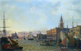Friedrich Nerly | The Riva degli Schiavoni, Venice, 1842 | Giclée Canvas Print