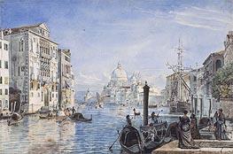 Friedrich Nerly | Venice: Canal Grande, Palazzo Cavallo Franchetti, Santa Maria della Salute and Dogana del Mar, c.1838/39 | Giclée Paper Print