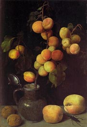 Georg Flegel | Apricot Branch, c.1630 | Giclée Canvas Print