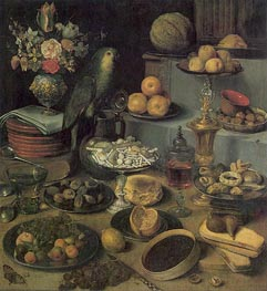 Georg Flegel | Large Food Display, undated | Giclée Canvas Print