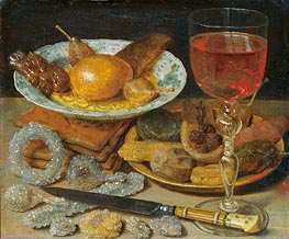 Georg Flegel | Meal with Fruit and Sweetmeats | Giclée Canvas Print