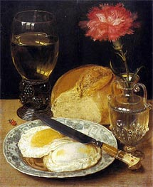 Georg Flegel | Snack with Fried Eggs, undated | Giclée Canvas Print