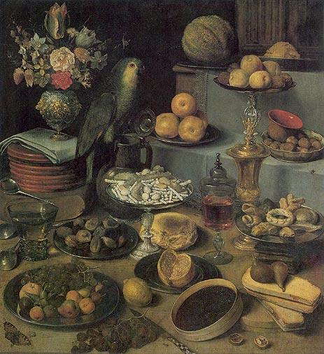 Large Food Display, undated | Georg Flegel | Painting Reproduction