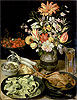 Flegel - Still Life with Flowers and Snacks - Art Print / Posters