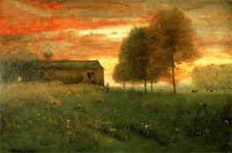George Inness | Sunset, Montclair, 1892 | Giclée Canvas Print