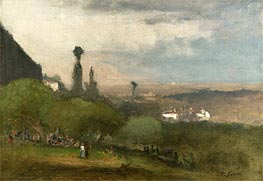 George Inness | Monte Lucia, Perugia, 1873 | Giclée Canvas Print