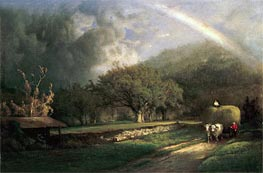 George Inness | The Rainbow in the Berkshire Hills, 1869 | Giclée Canvas Print