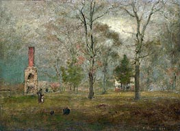 George Inness | Grey day, Goochland, 1884 | Giclée Canvas Print