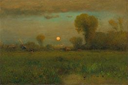 George Inness | Harvest Moon, 1891 | Giclée Canvas Print