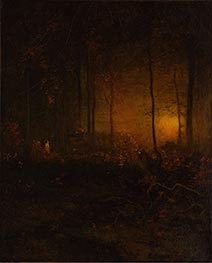 Watching the Sun Glow, 1887 by George Inness | Giclée Canvas Print