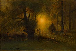 Sunrise in the Woods, 1887 by George Inness | Giclée Canvas Print
