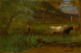 A Pastoral, c.1882/85 by George Inness | Giclée Canvas Print