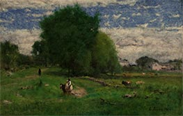 The Road to the Village, Milton, 1880 by George Inness | Giclée Canvas Print