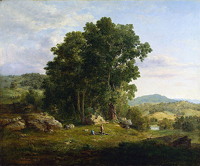The Wood Chopper, 1849 | George Inness | Painting Reproduction