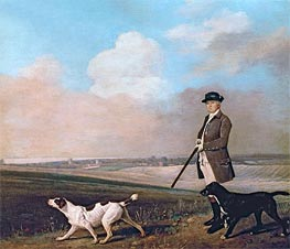 Sir John Nelthorpe, 6th Baronet out Shooting with his Dogs in Barton Field, Lincolnshire, 1776 by George Stubbs | Giclée Canvas Print