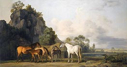 Brood Mares and Foals, undated by George Stubbs | Giclée Canvas Print