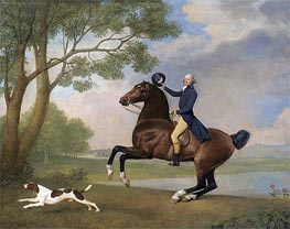 Portrait of Baron de Robeck Riding a Bay Hunter, 1791 by George Stubbs | Giclée Canvas Print