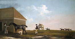 George Stubbs | Gimcrack on Newmarket Heath with a Trainer, a Stable-Lad and a Jockey, 1765 | Giclée Canvas Print